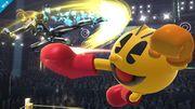 Samus Zero y Pac-Man en el Cuadrilátero SSB4 (Wii U).jpg