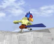 Ataque fuerte hacia abajo de Falco SSBM.png