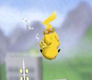 Ataque aéreo hacia abajo de Pikachu SSB.png