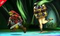 Cofremina persiguiendo a Link en la Smashventura SSB4 (3DS).jpg