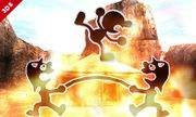 Mr. Game & Watch usado su Movimiento especial hacia arriba SSB4 (3DS).jpg