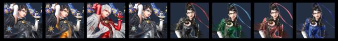 Paleta de colores de Bayonetta (SSB4).png