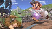 Dr. Mario corriendo hacía Link en Gran Bahía SSBU.jpg
