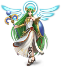 Art oficial de Palutena en Super Smash Bros. Ultimate.