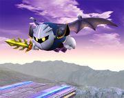 Meta Knight volando tras Lanzadera SSBB.jpg