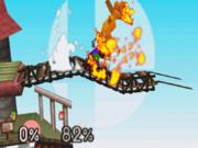 Luigi usando Súper salto puñetazo SSB.png