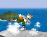 Ataque de recuperación de cara hacia arriba de Fox (2) SSBM.png