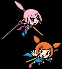 Art oficial de Kat y Ana en Game & Wario