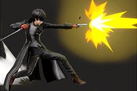 Vista previa de Pistola / Pistola especial en la sección de Técnicas de Super Smash Bros. Ultimate