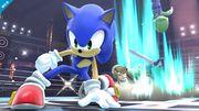 Sonic Link y Luigi en el Ring de boxeo SSB4 (Wii U).jpg