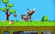 Mario, Donkey Kong y el Dúo Duck Hunt en el escenario Duck Hunt SSB4 (Wii U) (1).jpg