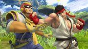 Ryu atacando a Captain Falcon SSB4 (Wii U).jpg