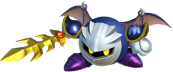 Art oficial de Meta Knight en Kirby: Star Allies