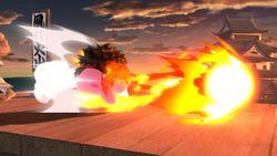 Kirby realizando el Shakunetsu Hadoken.