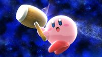 Kirby utilizando su martillo en Super Smash Bros. para Wii U