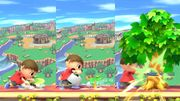 El Aldeano plantando y cortando un arbol SSB4 (Wii U).jpg