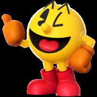 Art Oficial de Pac-Man en Super Smash Bros. para Nintendo 3DS y Wii U