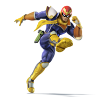 Art oficial de Captain Falcon en Super Smash Bros. para Nintendo 3DS y Wii U.