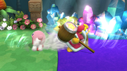 Kirby y el Rey Dedede usando Tragar SSB4 (Wii U).png