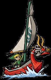 Art Oficial del Mascarón Rojo junto a Link en TLoZ The Wind Waker.png