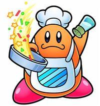 Art oficial de Cocinero Kawasaki en Kirby Super Star Utra