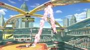 Sheik impactando contra una cubierta en Estadio muelle SSBU.jpg