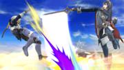 Lucina usando Tajo Delfín contra Sheik SSB4 (Wii U).png