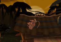 Diddy Kong dando una vuelta con Cabriola Simiesca en Super Smash Bros. Brawl