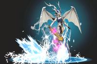 Vista previa de Ascenso dragón en la sección de Técnicas de Super Smash Bros. Ultimate