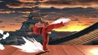Ken usando Oosoto Mawashi Geri en Super Smash Bros. Ultimate