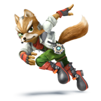 Art oficial de Fox en Super Smash Bros. para Nintendo 3DS y Wii U