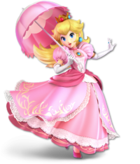 Art Oficial de Peach en Super Smash Bros. Ultimate