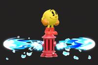 Vista previa de Hidrante/Boca de riego en la sección de Técnicas de Super Smash Bros. Ultimate