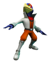 Art oficial de Falco Lombardi en Star Fox 64 3D
