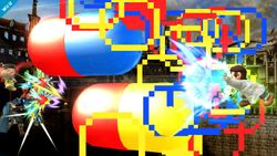 Dr. Mario usando su Smash Final en Super Smash Bros. para Wii U.
