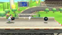 Bowsy lanzando una bola de cañón con el ataque en Super Smash Bros. for Wii U