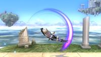 Sheik usando el Salto delfín en Super Smash Bros. for Wii U