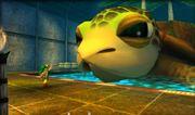 Link y la tortuga en The Legend of Zelda Majora's Mask 3D.jpg