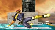 Ataque fuerte hacia abajo Captain Falcon SSBB.png