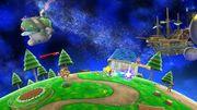 Mario, Bowser, Samus y el Aldeano en la Galaxia Mario SSB4 (Wii U).jpg