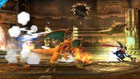 Greninja usando Sombra vil en Super Smash Bros. para Wii U