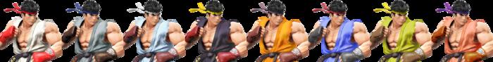 Paleta de colores de Ryu SSB4 (Wii U).png