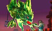 Entrenadora de Wii Fit contra un monstruo SSB4 (3DS).jpg