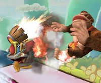 El Rey Dedede usando el Martillo a reacción en Super Smash Bros. Brawl
