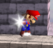 Ataque Smash hacia arriba de Mario SSB.png