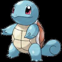 Diseño de Squirtle en Pokémon Edición Rojo Fuego y Edición Verde Hoja