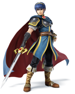 Art oficial de Marth en Super Smash Bros. para Nintendo 3DS y Wii U