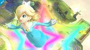 Estela saliendo de un aro de estrellas SSB4 (Wii U).jpg