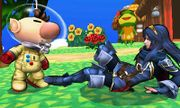 Olimar y Lucina en Isla Tórtimer SSB4 (3DS).jpg