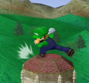 Ataque fuerte hacia abajo de Luigi SSBM.png